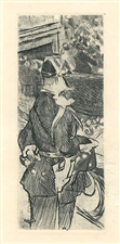 "Jacques Villon ""Fete Champetre"" original etching"