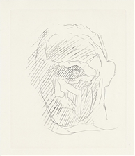 "Jacques Villon original etching ""Portrait"""