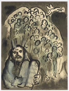 Marc Chagall Moses and his People original lithograph
