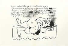 Pablo Picasso original lithograph Homage to Braque