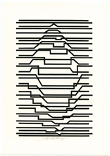 Victor Vasarely signed original serigraph Naissances 1963