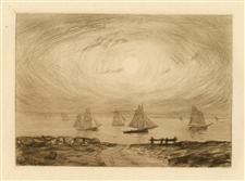 Charles Cottet original etching Marinr