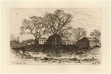 Edmund Henry Garrett original etching The Wayside Inn