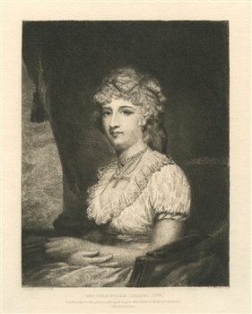 Stephen Ferris Gilbert Stuart etching Mrs Nicklin