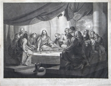"Benjamin West ""The Last Supper"" engraving"