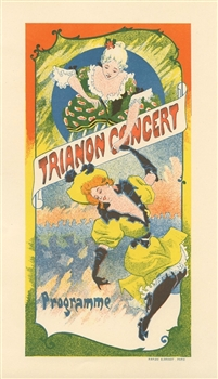 French lithograph poster Trianon Concert