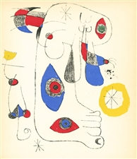 Joan Miro original lithograph | Surrealisme en 1947