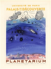 Raoul Dufy lithograph poster Planetarium