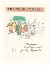 Raoul Dufy lithograph poster Tragedie - Comedie