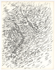 Henri Michaux engraving for XXe Siecle, 1956