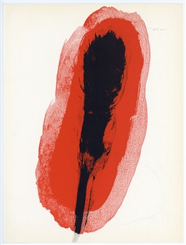 Miro lithograph Derriere Miroir Maeght Red 1961