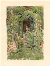 "Childe Hassam chromolithograph ""The Garden in its Glory"""