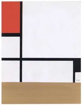 Piet Mondrian color pochoir
