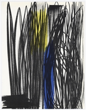 Hans Hartung original lithograph, 1973