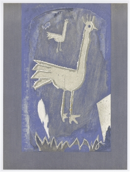 "Georges Braque original lithograph ""Le coq"""
