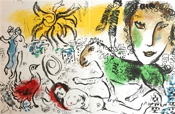 Marc Chagall original lithograph Monumental