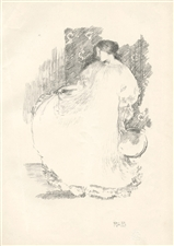 Robert Anning Bell original lithograph Study in Movement