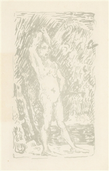 Paul Signac lithograph Bather Cezanne