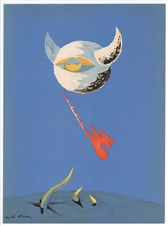 "Andre Masson original lithograph ""The Moon"""