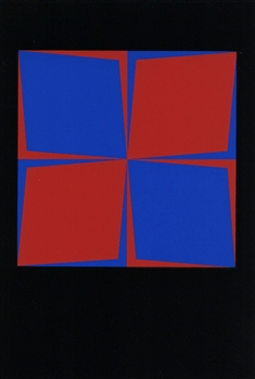 Victor Vasarely color silkscreen, 1965