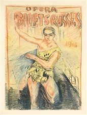 Pierre Bonnard lithograph Ballets Russes