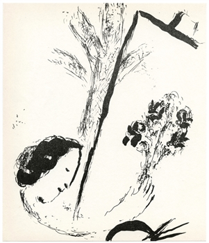 Marc Chagall Bouquet With Hand original lithograph