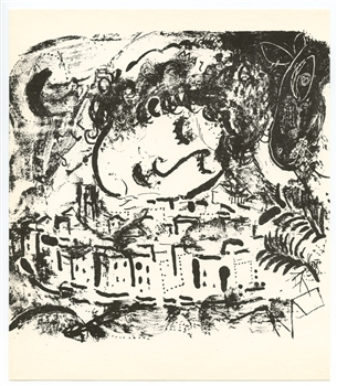 Marc Chagall The Village original lithograph