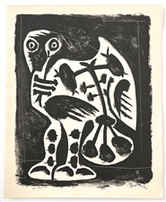Pablo Picasso Great Owl lithograph