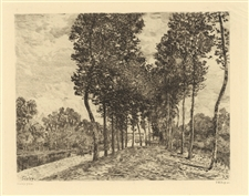 Alfred Sisley etching Bords du Loing