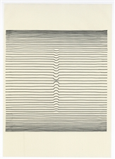 Victor Vasarely line etching Naissances 1963
