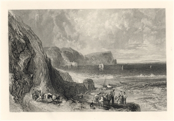 J. M. W. Turner engraving Clovelly