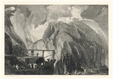 J. M. W. Turner engraving Tintagel Castle