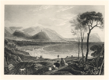 J. M. W. Turner engraving Dunster from Minehead