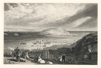 J. M. W. Turner engraving Falmouth Harbour