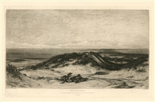 "Stephen Alonzo Schoff etching ""The Sea Serpent"" Elihu Vedder"
