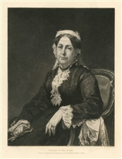 Stephen Alonzo Schoff etching Portrait of Mrs Adams