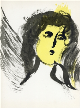 "Marc Chagall ""Angel"" original Bible lithograph"