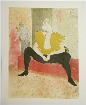 toulouse lautrec lithograph clownesse assise elles. Black Bedroom Furniture Sets. Home Design Ideas