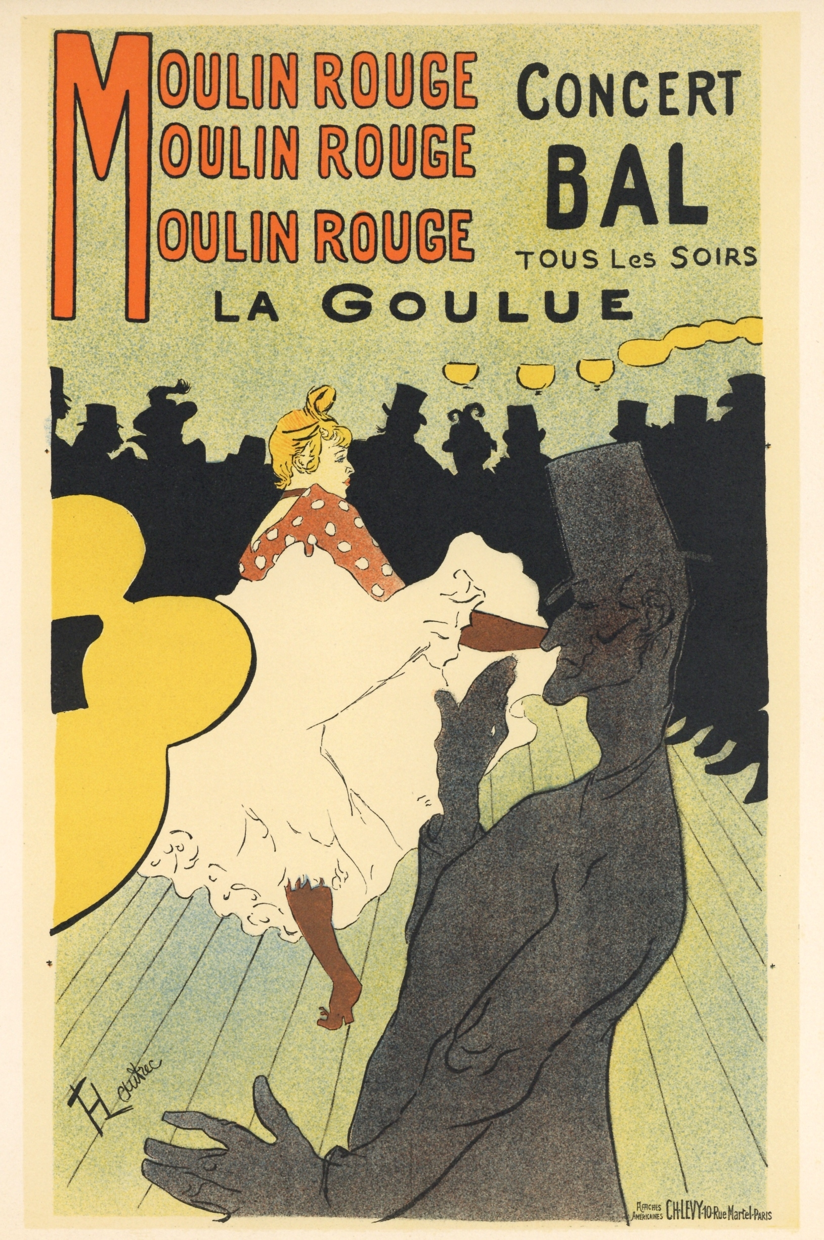 toulouse lautrec lithograph poster moulin rouge la goulue plus color decompositions. Black Bedroom Furniture Sets. Home Design Ideas