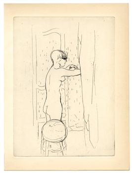 Pierre Bonnard etching Toilette 1927