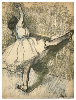 Edgar Degas pochoir Danseuse a la barre