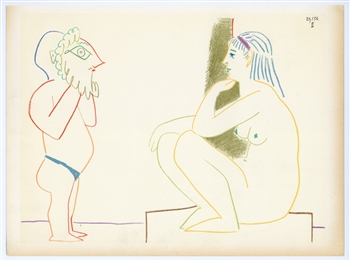 Pablo Picasso lithograph (Personnages)