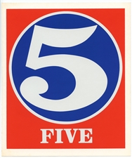 Robert Indiana Numbers original silkscreens, 1968