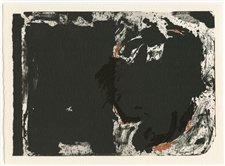 "Robert Motherwell ""Lament for Lorca"" lithograph"