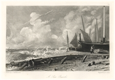 "Sir John Constable / David Lucas mezzotint ""A Sea Beach"""