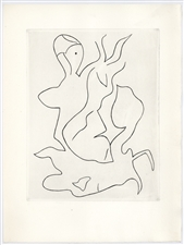 Jean Arp original etching for Paroles Peintes
