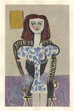 Picasso Venti Pochoirs Fille assise