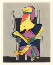 Picasso Venti Pochoirs Femme assise