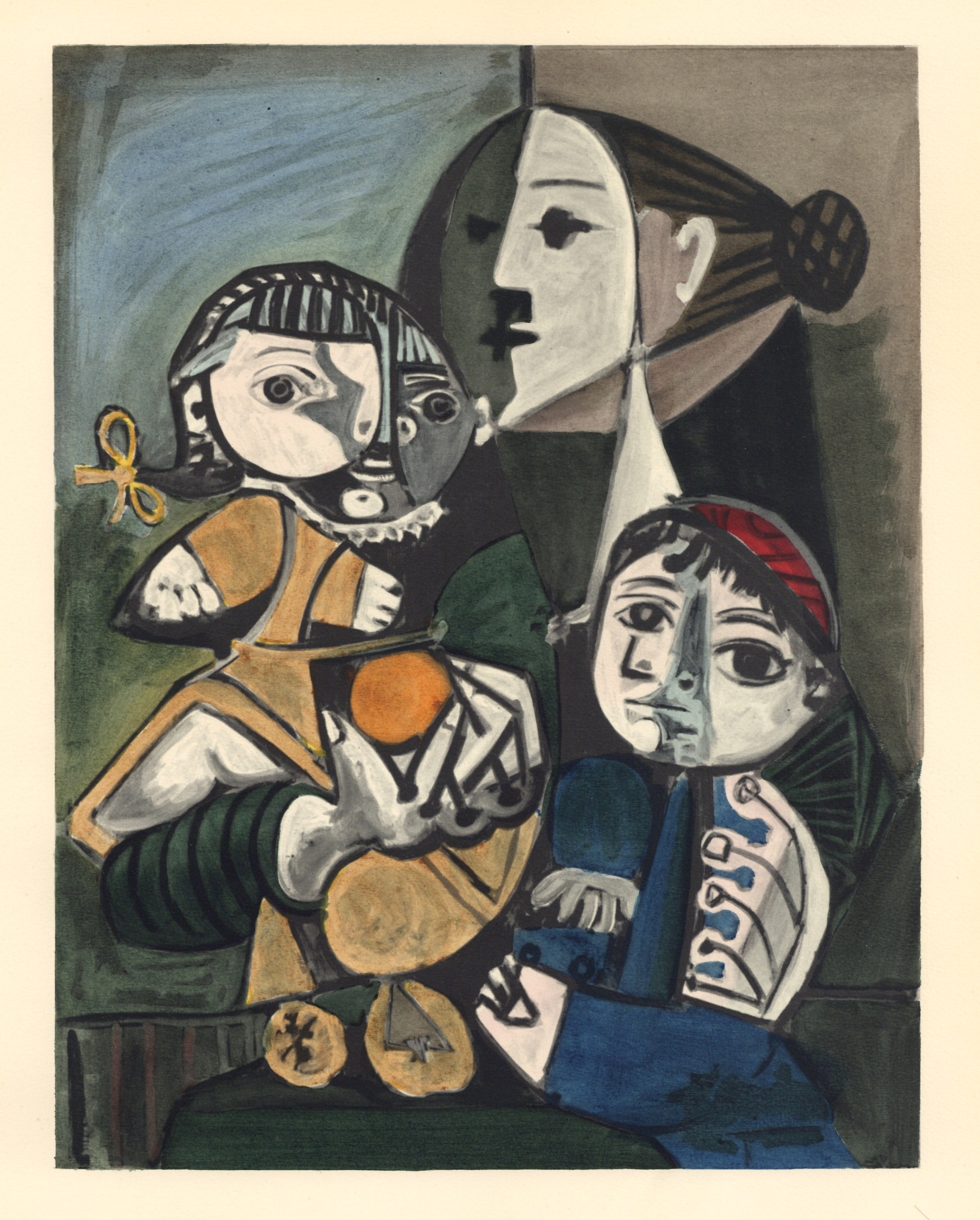 Pablo Picasso pochoir - La maternite et orange | Venti Pochoirs