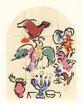 "Marc Chagall ""Tribe of Asher"" Jerusalem Windows lithograph"